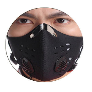 Anti Smoke Carbon Dust-proof  Breathable Mesh Bicycle Men Women Sports Sweat Headband Run Tennis Fitness Pirate Headband Sports - outoff