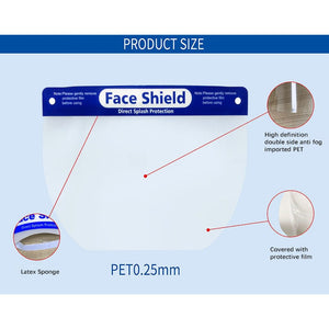 5/10/15pcs Safety Full Face Shield Anti-droplet Protective Faceshield Cover for COVID19 - outoff
