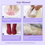 3 Pcs Exfoliating Foot Masks Pedicure Socks Exfoliation for Feet Mask Remove Dead Skin Heels Foot Peeling Mask - outoff