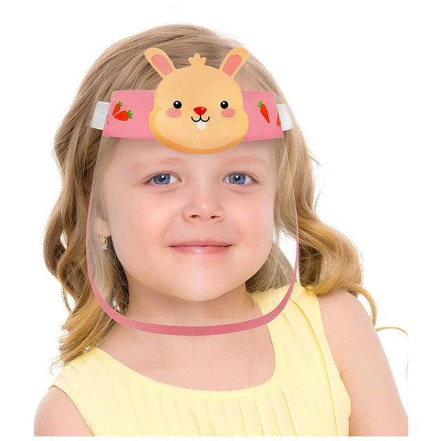 Cartoon Transparent Full Face Shields Mask Outdoor Child Kids Boy Girl Cartoon Face Shields Cover Mask (FAST&FREE SHIPPING) - outoff