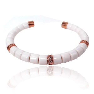 Original Bracelets Gold Color Champagne Zircon Tube & Matte Onxy Stone Beads Making UP Men Bracelets & Bangles - outoff