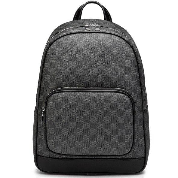 Men Backpack Travel Backpack Men Water Repellent Laptop Backpack business Computer BackPack Male Plaid Large Capacity Bagpack - outoff
