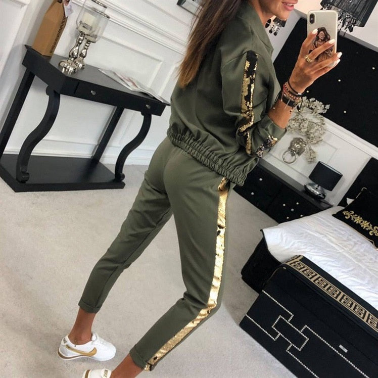 New Design Fashion Hot Sale Suit Set Women Tracksuit - outoff