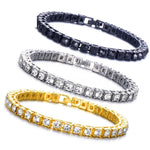 Iced Out Single Row Rhinestones Chain Bling Tennis Charm Bracelets  Zirconia Bracelets Link Chain Jewelry - outoff