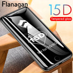 15D Protective Glass on the For iPhone 6 7 8 plus XR X XS glass full cover iPhone 11 12 Pro Max Screen Protector Tempered Glass - outoff