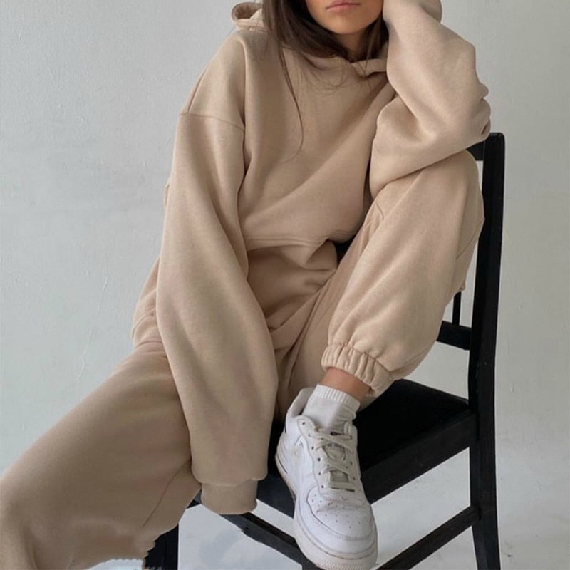 Tracksuits Women's Hoodie Pants Set Oversized - outoff