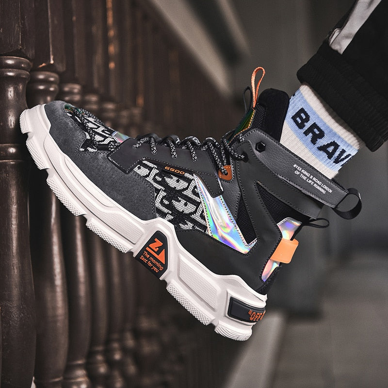 OutOff Reflective Chunky Sneakers - outoff