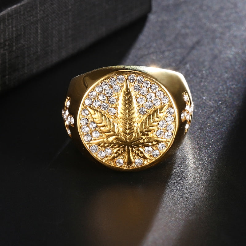 Iced Out Gold Ring S3221 - outoff