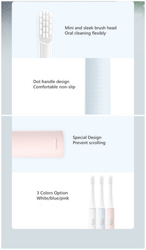 XIAOMI MIJIA Sonic Electric Toothbrush Cordless USB Rechargeable Toothbrush Waterproof Ultrasonic Automatic Tooth Brush - outoff