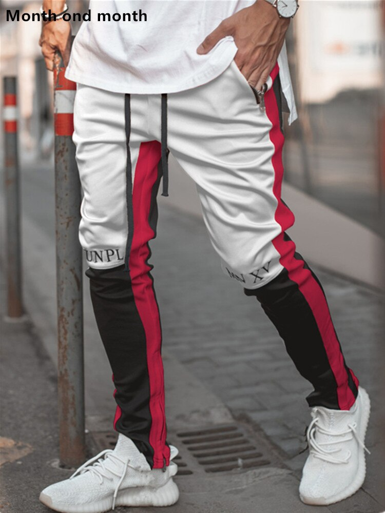 Brand Sport Pants Joggers Patchwork Fitness Bodybuilding Mens Running Trousers Fashion Skinny Sweatpants Track Pants Sweatpants - outoff
