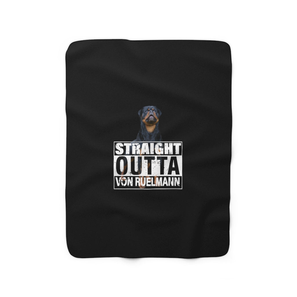 Straight Outta Sherpa Fleece Blanket