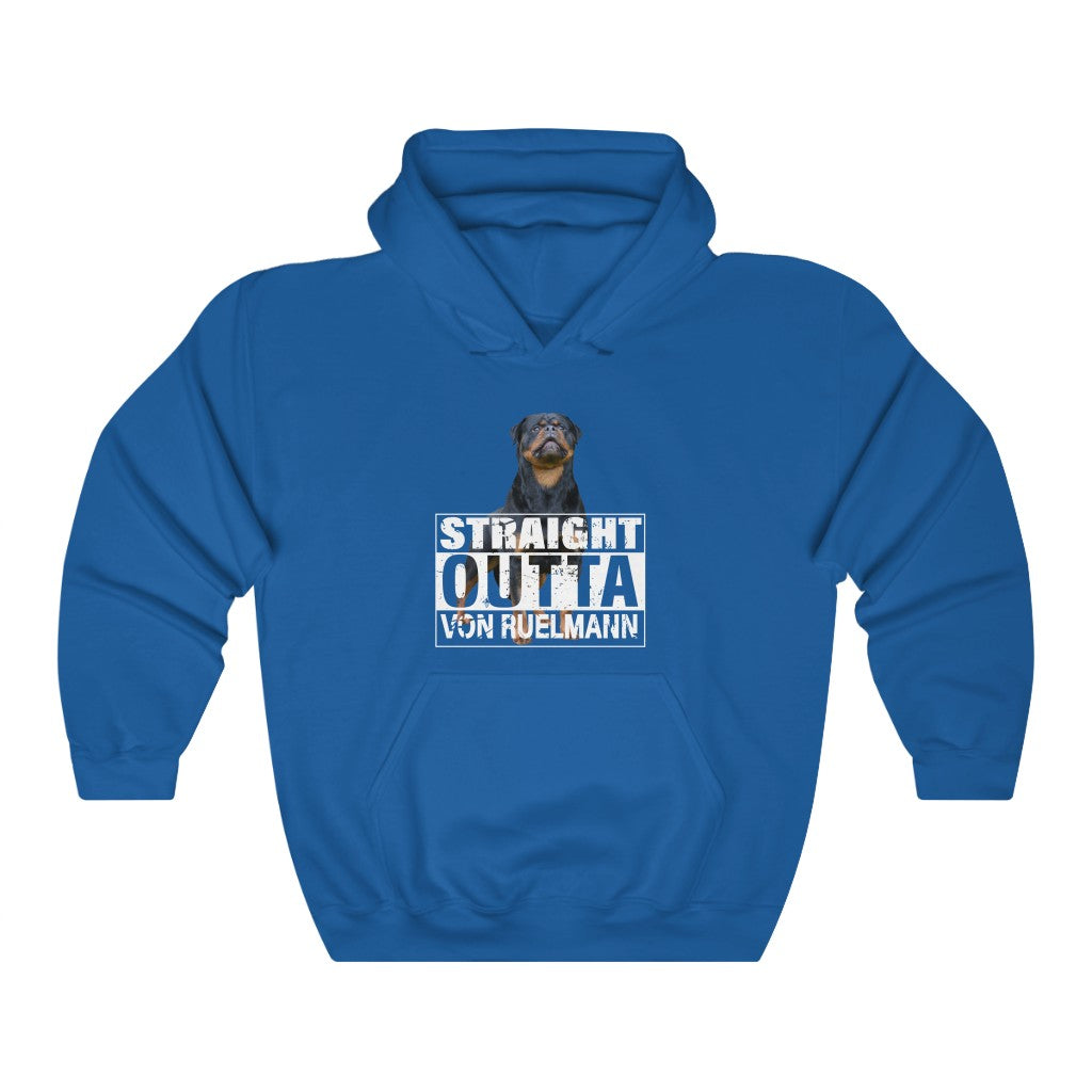 STRAIGHT OUTTA VON RUELMANN Unisex Heavy Blend™ Hooded Sweatshirt