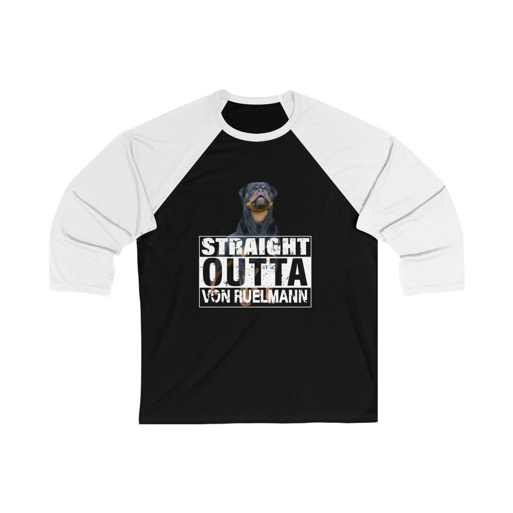 Straight Outta Unisex 3/4 Sleeve Baseball Tee