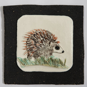 Hedgehog Hand Made Porcelain Tile