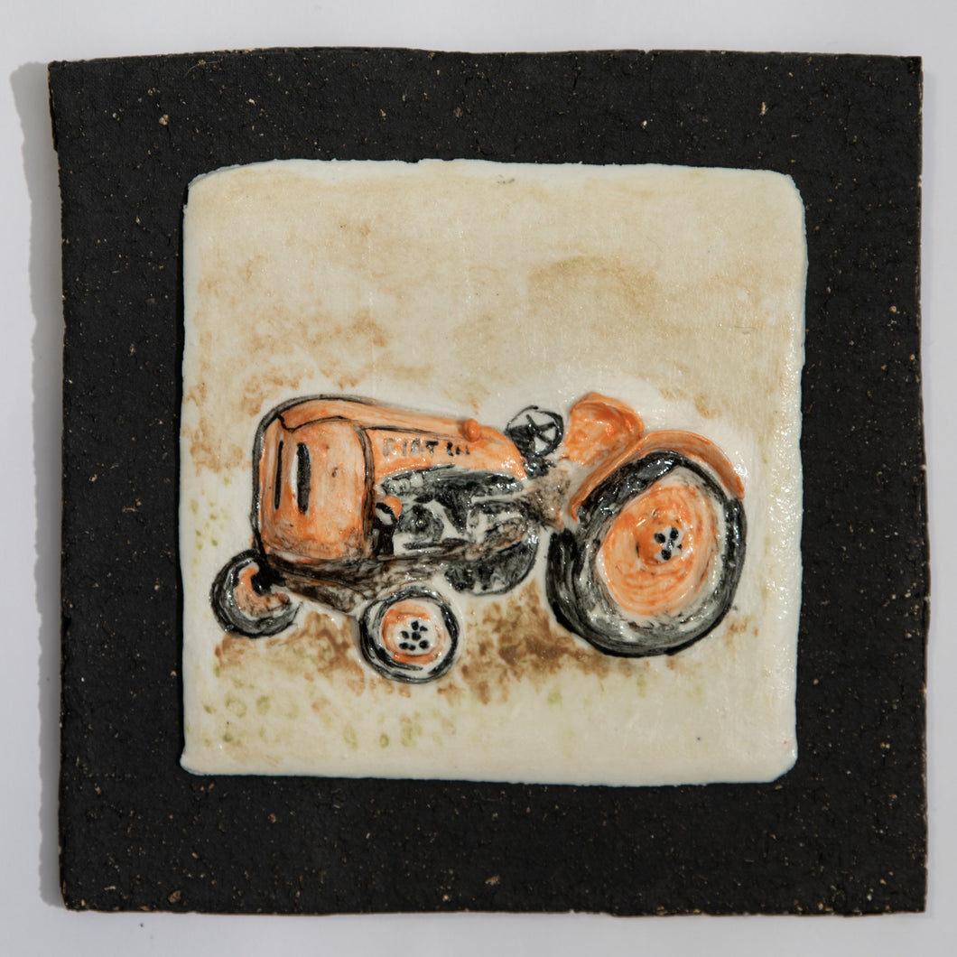 Fiat Tractor Hand Made Porcelain Tile