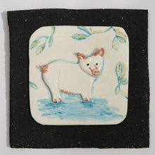 Load image into Gallery viewer, Pig Hand Made Porcelain Tile