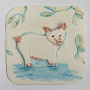 Pig Hand Made Porcelain Tile