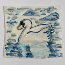 Load image into Gallery viewer, Swan Hand Made Porcelain Tile