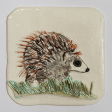 Load image into Gallery viewer, Hedgehog Hand Made Porcelain Tile