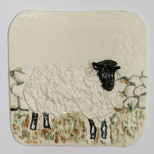 Load image into Gallery viewer, Sheep Hand Made Porcelain Tile