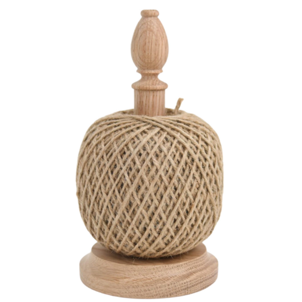 Oak String Tidy With Blade Cutter - Natural Twine String