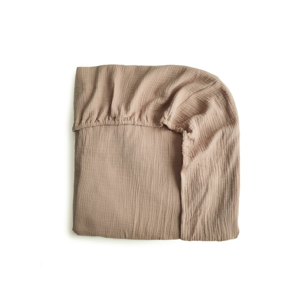 Mushie Cot Sheet- Natural