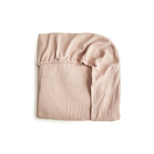 Mushie Cot Sheet- Blush