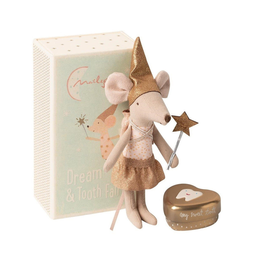 Maileg Tooth Fairy Sister Mouse In Box toys for ids uder 10 year