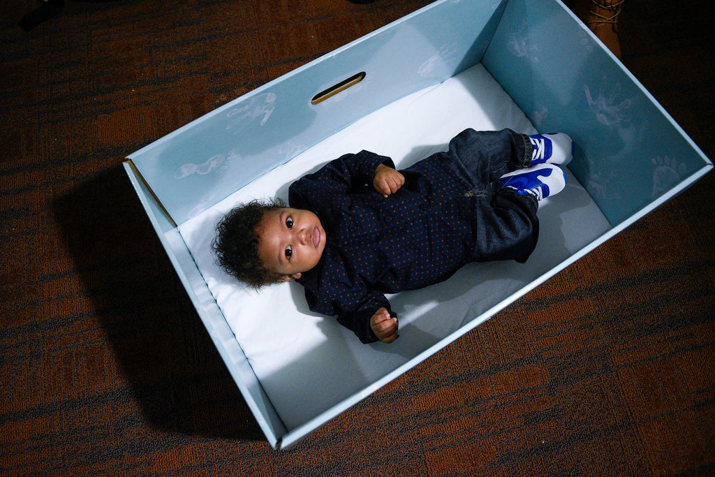 Baby In A Box Free Cardboard Bassinets Encourage Safe