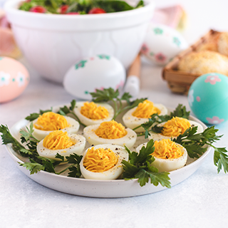Deviled Eggs With Swiss Dressing