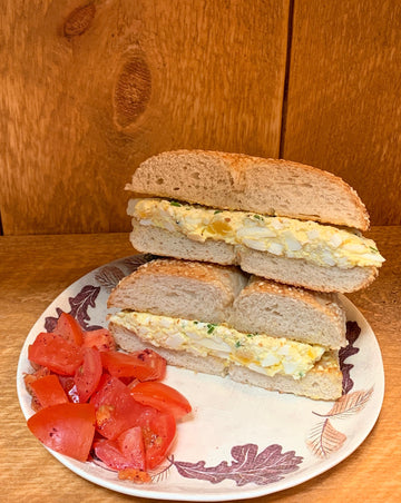 Egg Salad on Jerusalem Sesame Bagel