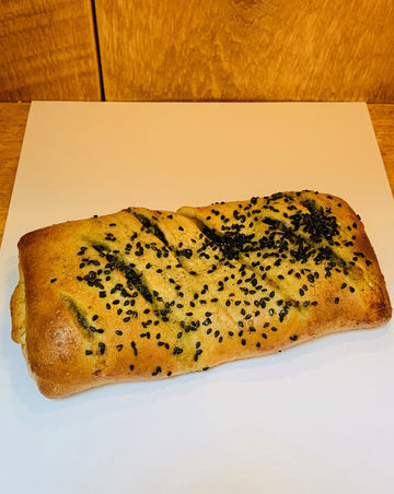 Spinach and Feta Cheese Sambusak (Middle Eastern Savory Pastry)