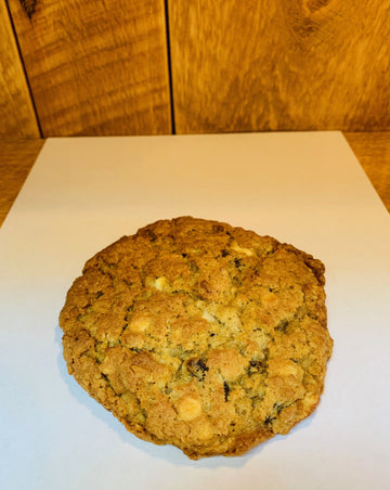 Giant Oatmeal Raisin White Chocolate Chip Cookie