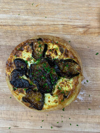 Eggplant, Mushroom, + Three Cheese Quiche (Order 1 Day in Advance)