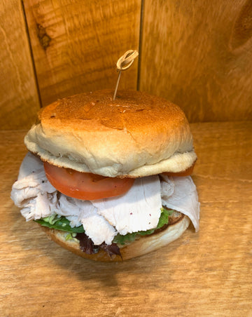 Sliced Roasted Turkey on Brioche