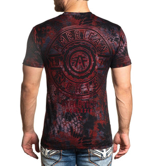 American Fighter Fair Grove T-Shirt Black/Red