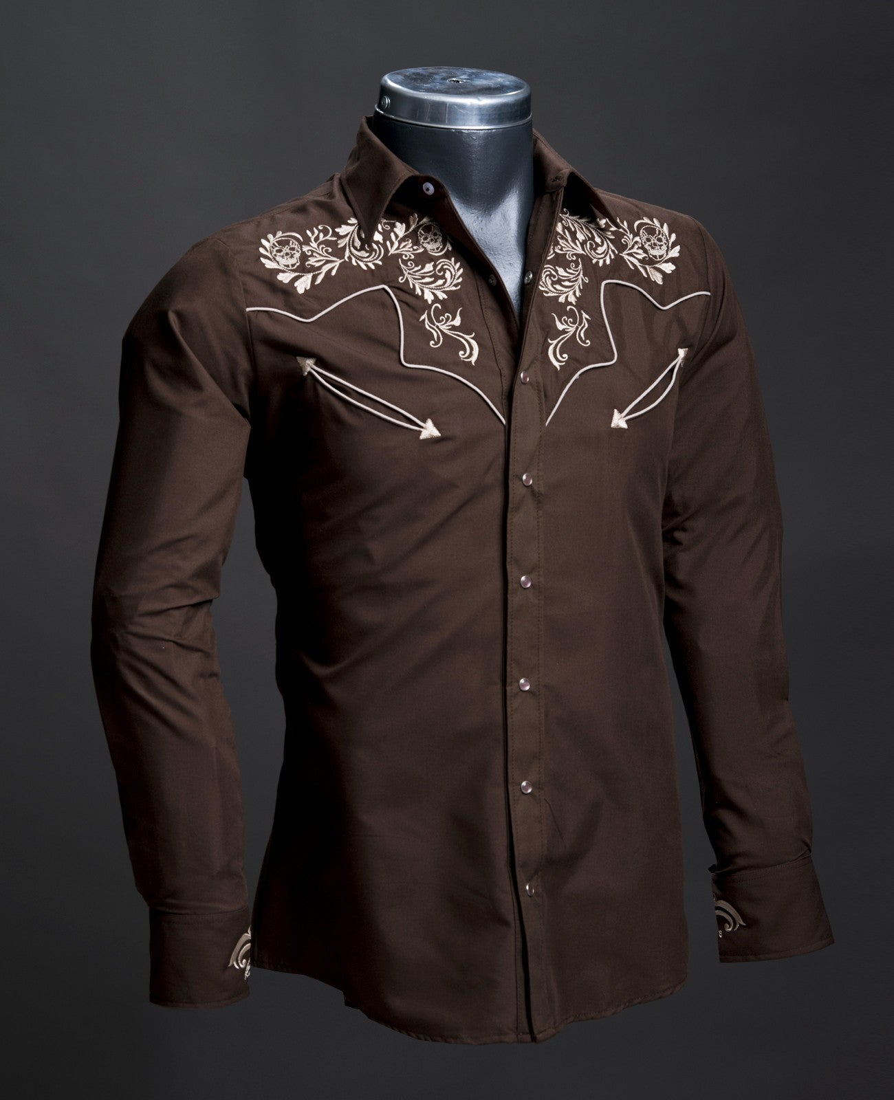 Rafael Amaya Western Brown Shirt 084CA01