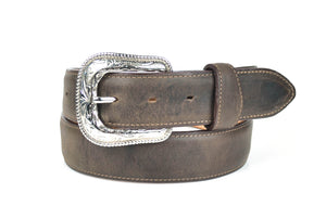 Gavel Distressed Leather Belt -Encino Brown