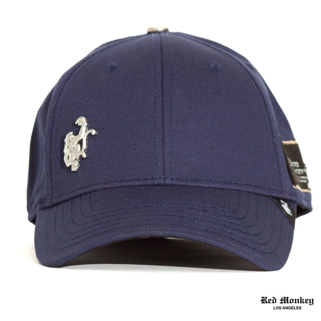 63677e32f7b Red Monkey Flex Monkey Stretch-Fit Cap Navy Silver