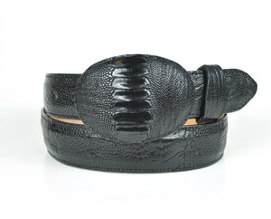 Gavel Men's Ostrich Leg Belt - Black