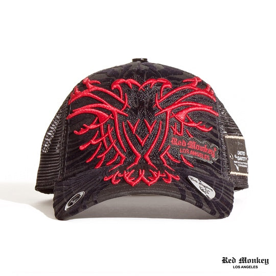 NEW BIG DOUBLE EAGLES SHADOW CAP HAT RED