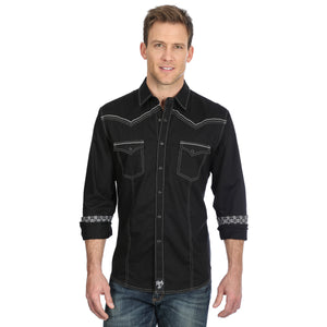 ROCK 47 by Wrangler Men's Snap Shirt MRC377X