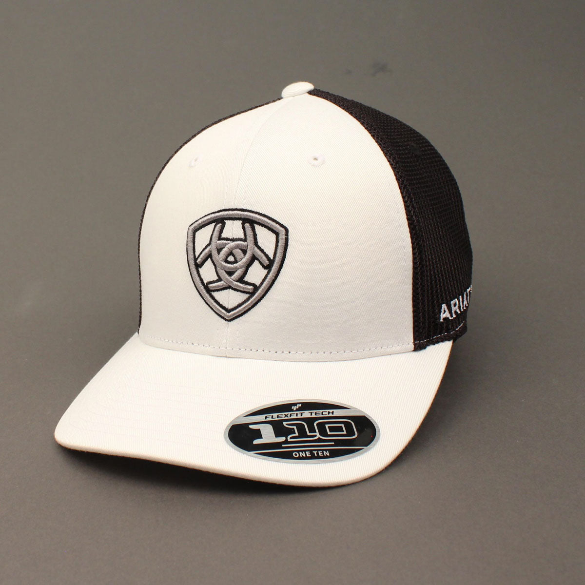 Ariat FF110 Embroidered Shield White Cap