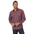 Wrangler Men's Wrinkle Resist Western Shirt Red