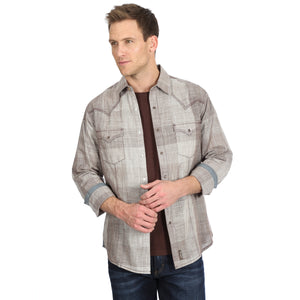 Wrangler Men's Retro Premium Western Shirt Tan