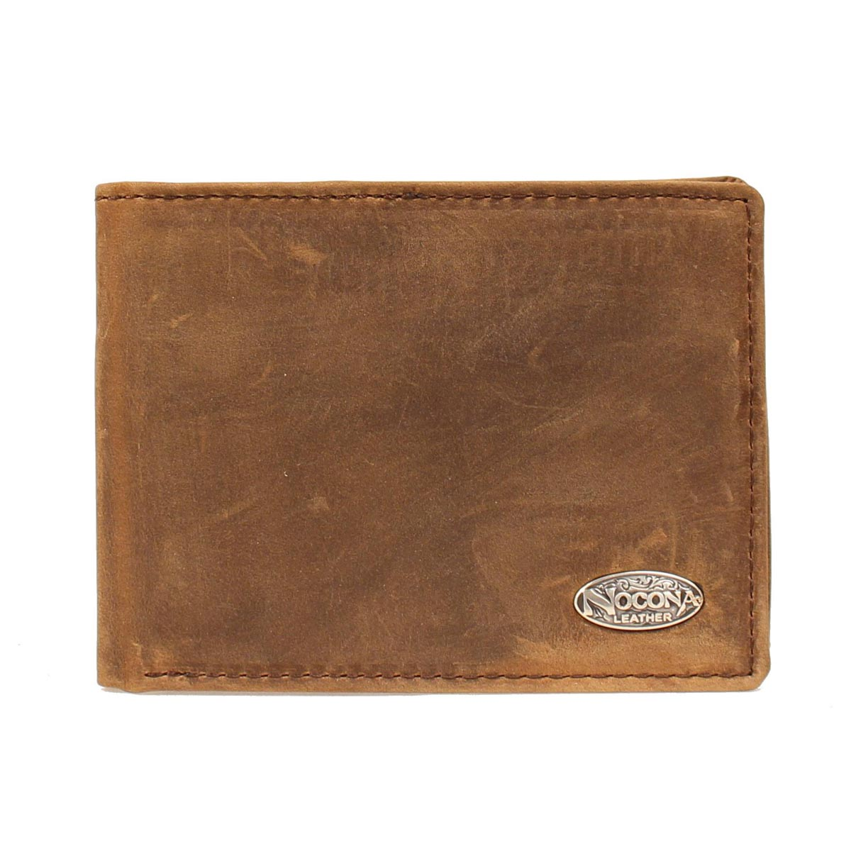 Nocona Medium Brown Distressed Bifold Wallet