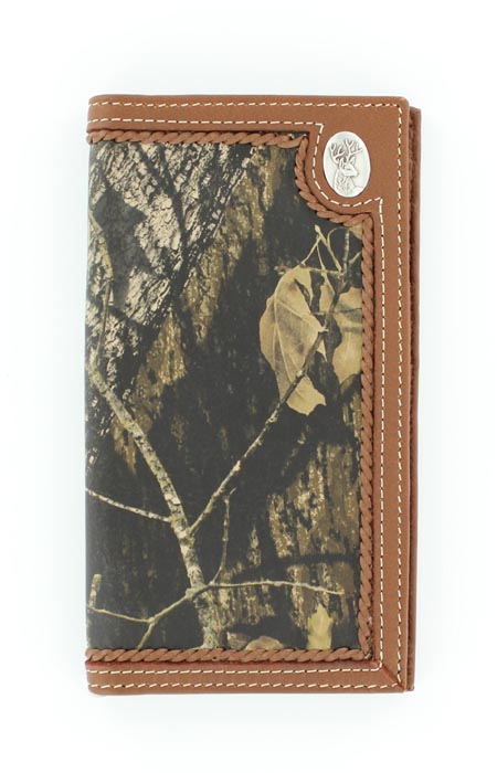 Nocona Deer Head Concho Mossy Oak Rodeo Wallet