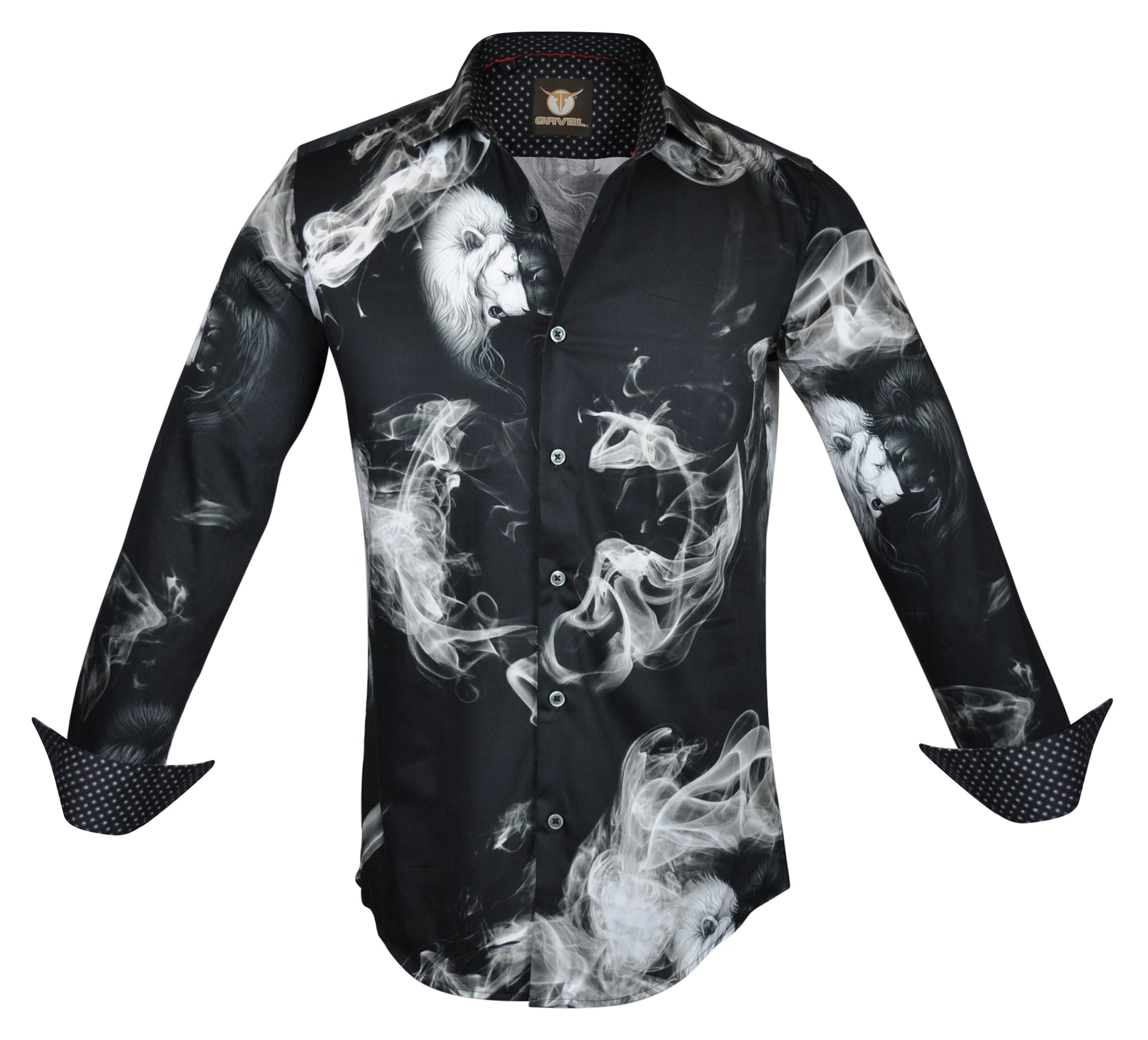 Gavel Heart Of a Lion Black Fashion Dress Shirt