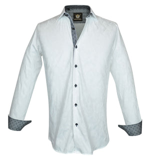 Gavel Men's Tarragona White Fashion Dress Shirt