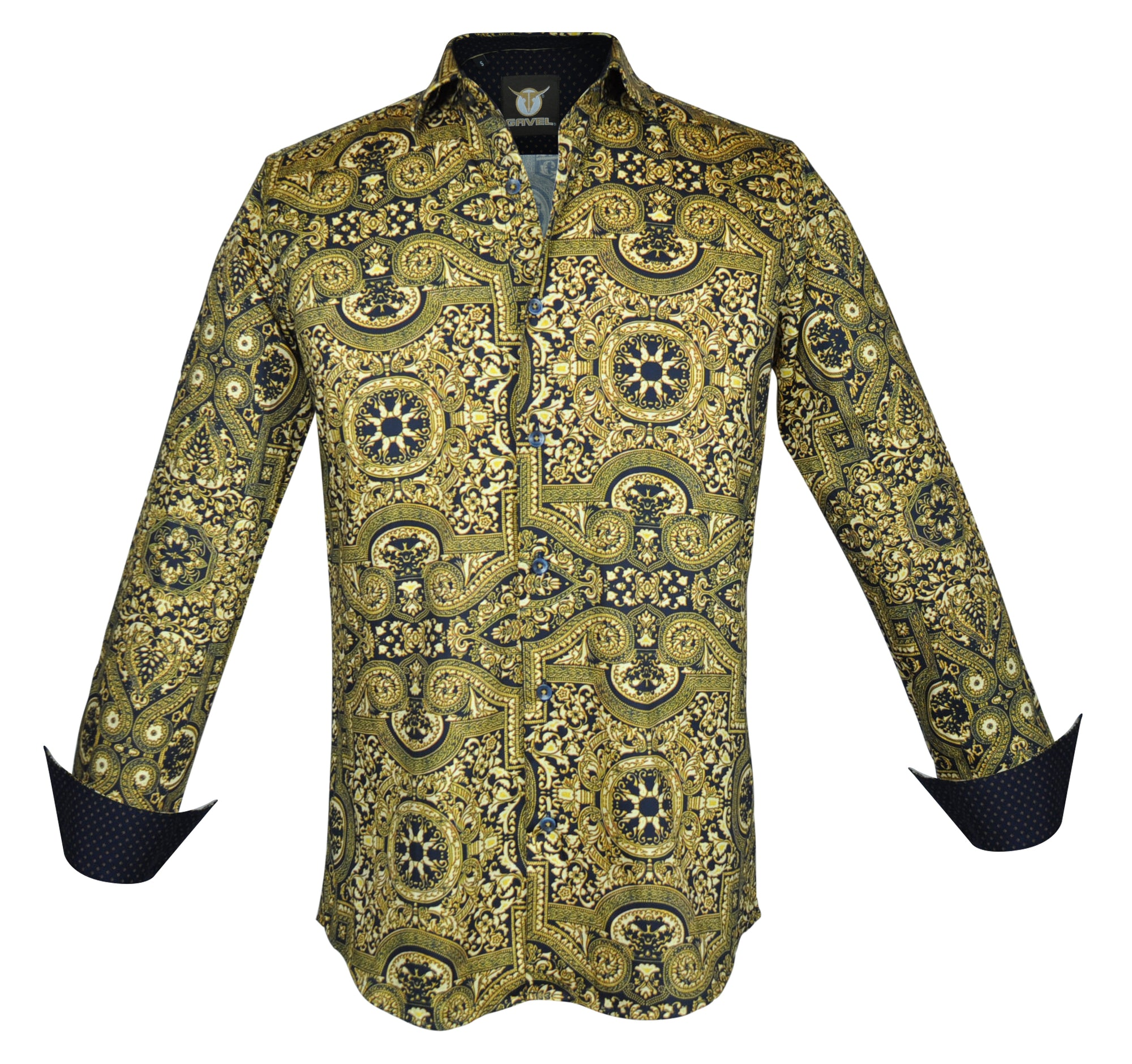 Gavel Men's Palermo Gold Fashion Dress Shirt
